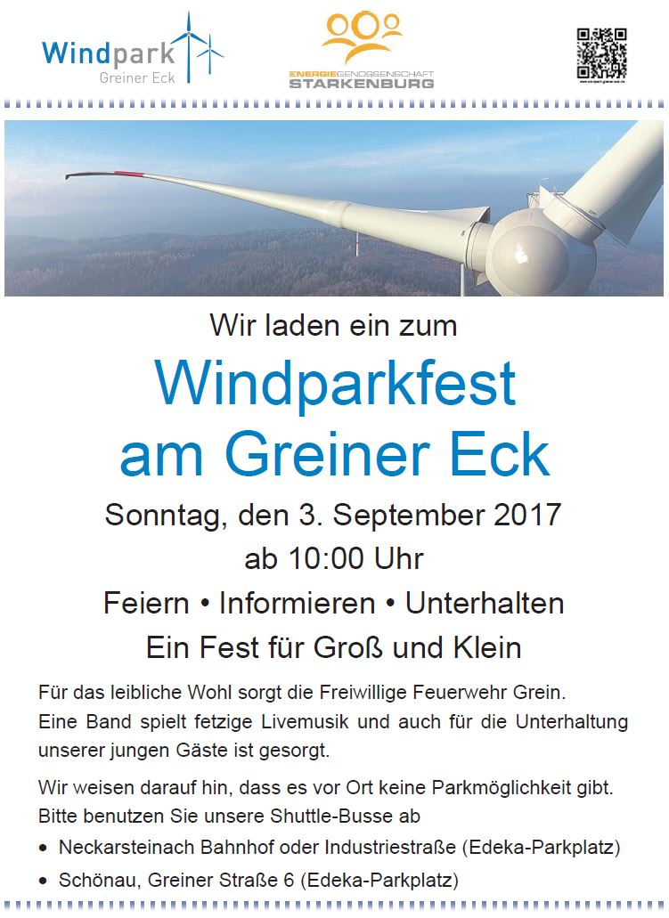 Windparkfest 2017-Infoflyer